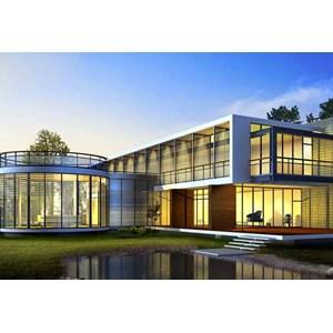 Jasa Design Kaca Ruangan Kaca Partisi UPVC dan Kaca Pintu Sliding