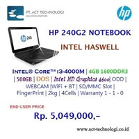 Hp Notebook 240G2 1