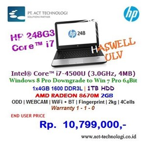 Hp Notebook 248G3 - I7 Windows