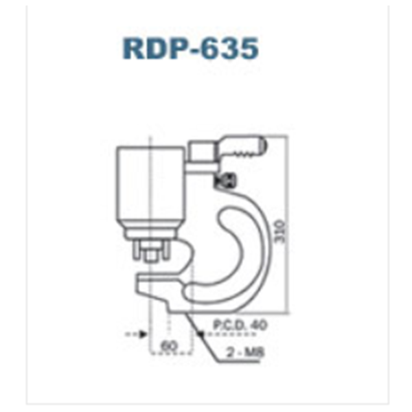 Double Acting Hydraulic Puncher Rdp-635 Punching Machine