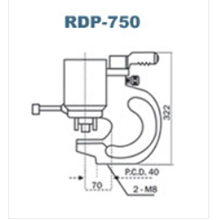 Double Acting Hydraulic Puncher Royal Rdp-750
