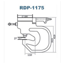 Double Acting Hydraulic Puncher Royal Rdp-1175 Pun