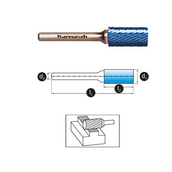 Mata Tuner Karnasch Tungsten Carbide Burr type Cylindrical without end cut
