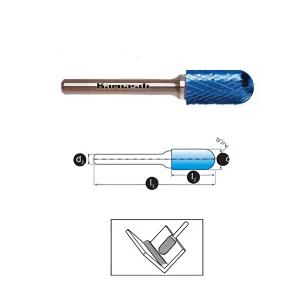 Mata Tuner Karnasch Tungsten Carbide Burr type Ball Nosed Cylinder