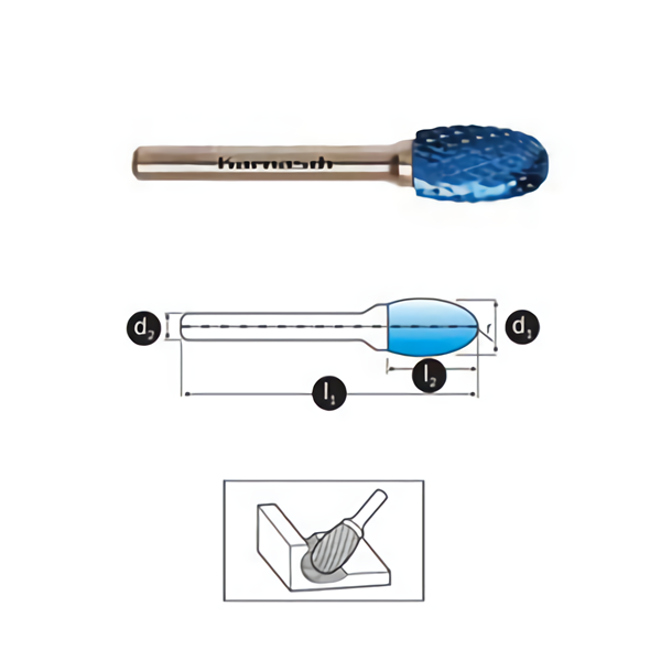 Mata Tuner Karnasch Tungsten Carbide Burr type Oval