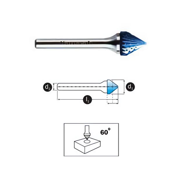 Mata Tuner Karnasch Tungsten Carbide Burr type Countersink 60°