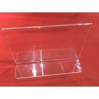 Distributor Acrylic Tempat Brosur Jepit 10 Cm X 15 Cm  3