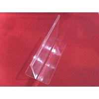 Acrylic Tempat Brosur Jepit 10 Cm X 15 Cm  1