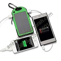 Power Bank ES500 tenaga matahari 5000mAh Waterproof shockproof LED USB murah