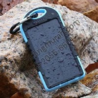 Power Bank tenaga matahari 5000mAh Waterproof shockproof LED USB murah