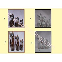 Patung Kayu Kucing 2