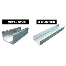metal stud partition frame runner and u