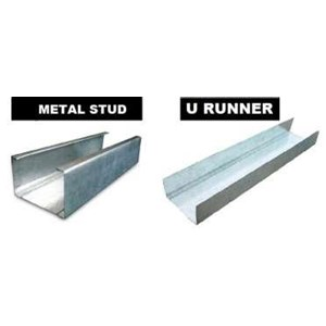 From metal stud partition frame runner and u 0