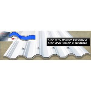 Atap UPVC MASPION SUPER ROOF Putih / Biru Doff