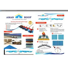 Atap UPVC Aman Roof Biru Doff