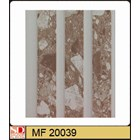 Shunda Plafon PVC MF 20.039 BROWN MARBLE W/ DOUBLE DRAIN 1