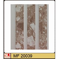 Shunda Plafon PVC MF 20.039 BROWN MARBLE W/ DOUBLE