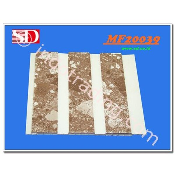 Shunda Plafon PVC MF 20.039 BROWN MARBLE W/ DOUBLE DRAIN