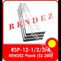 Rendez Metal Plank 250 Mm X 40 Mm X 1.2Mm X 1 M , Standard Ss 280 Standard Model : Rsp-12-2 1
