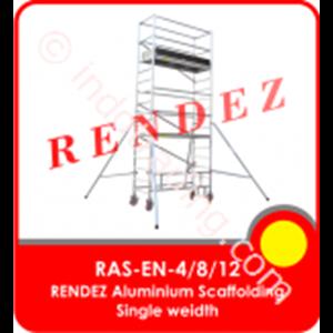 Rendez Aluminium Scaffolding Single Width – En 1004 Standard – Model : Ras-En-4 / Ras-En-8 / Ras-En-12
