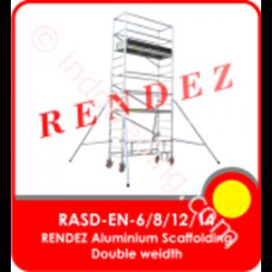 Rendez Aluminium Scaffolding Double Width – En 1004 Standard – Model : Rasd-En-6 / Rasd-En-8 / Rasd-En-12