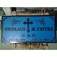 Christian 20x50 granite headstones