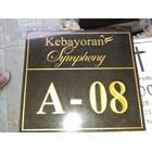 Grafir Nomor Rumah Kebayoran Symphoni 1