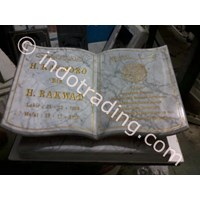 Headstone Book Model White Marble