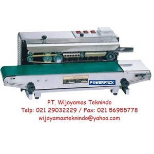 Mesin Continuous Band Sealer SF-150 W Powerpack ( Alat Packing Plastik )