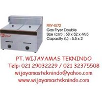 Gas Deep Fryer Double (Mesin Penggorengan Gas Double) FRY-G72 1