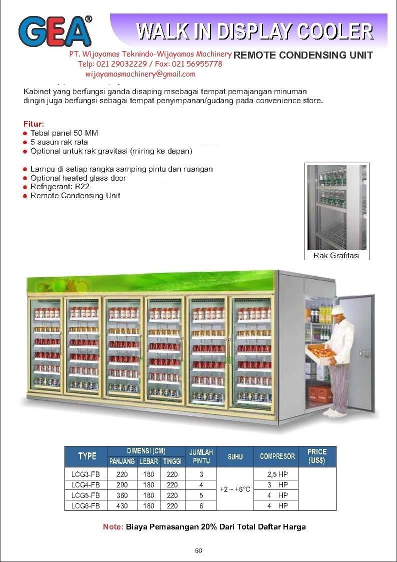 Sell Walk In Display Cooler Lcg3 Fb Lcg6 From Indonesia By Pt Rak Untuk Mining Wijayamas Teknindocheap Price
