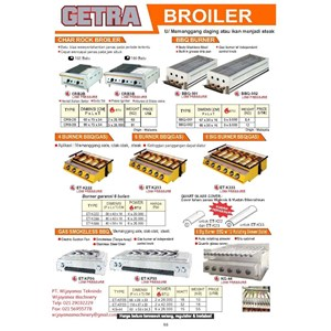 Dari Mesin Pemanggang Makanan CRB2B - KG-44 0