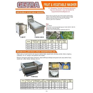 From Fruit & Vegetable Washer QX-1P SERI QX-6 0