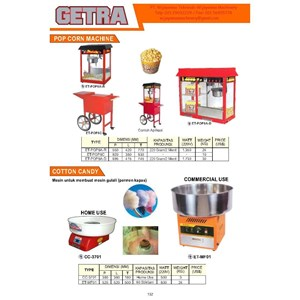 Mesin Pembuat Pop Corn & Gulali ET-POP6A-R ET-TMF01