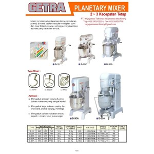 From Planetary Mixer B-10 - B-60A 0