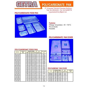 Polycarbonet Food Pan & Pan Cover