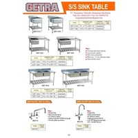 S/S Sink Table Tempat Pencuci Piring / Gelas dan Lain-lain Commercial Kitchen 1