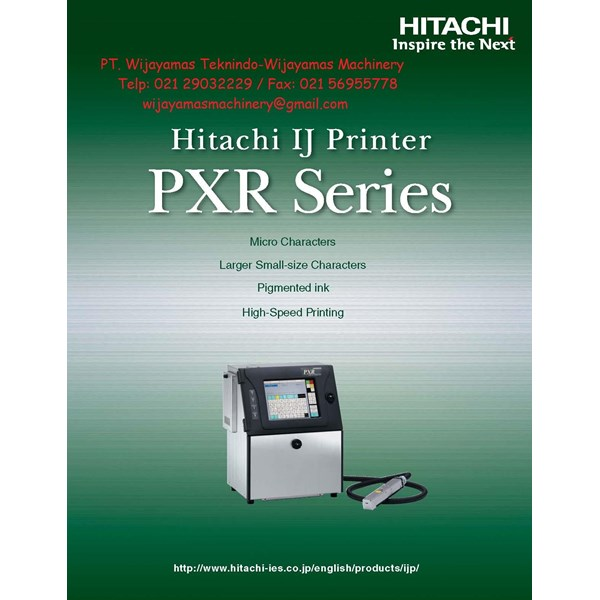 Ink Jet Printer PXR Series Model PXR D240W HITACHI