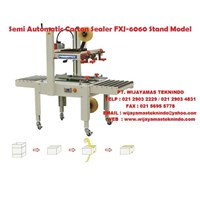 Semi Automatic Carton sealer FXJ-6060 Stand Model Mesin Penyegel Kardus 1