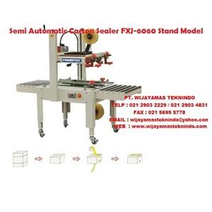 Semi Automatic Carton sealer FXJ-6060 Stand Model Mesin Penyegel Kardus