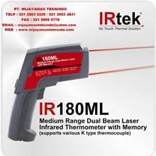 Medium Range Dual Beam Laser Infrared Thermometer With Memory ( supports various K type thermocouple ) IR180ML Merk Irtek