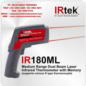 Dari Medium Range Dual Beam Laser Infrared Thermometer With Memory ( supports various K type thermocouple ) IR180ML Merk Irtek 0