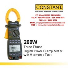 Three Phase Digital Power Clamp Meter with Harmonic Test Merk Constant