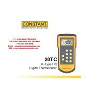 Jual K Type T-C Digital Thermometer 20TC Merk Constant