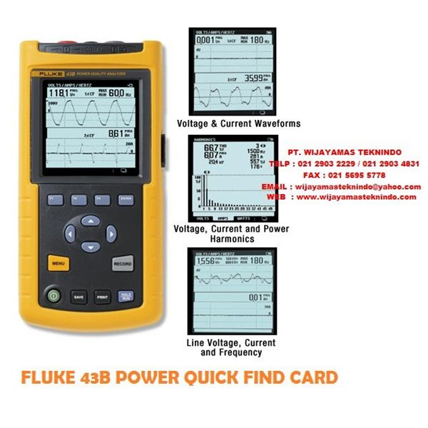 Sell Fluke 43B Single Phase Power Quality Analyzer