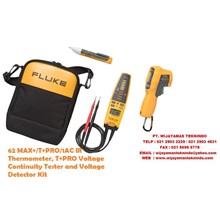 Fluke 62 MAX+-T+PRO-1AC IR Thermometer T+PRO Voltage Continuity Tester and Voltage Detector Kit