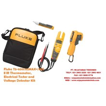 Fluke T5-600-62MAX + 1AC II IR Thermometer Electrical Tester and Voltage Detector Kit