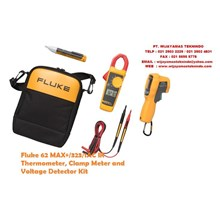 Fluke 62 MAX+323-1AC IR Thermometer Clamp Meter and Voltage Detector Kit