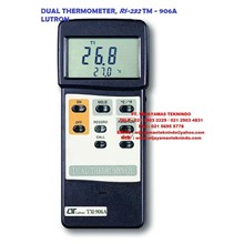 DUAL THERMOMETER RS232 TM - 906A LUTRON