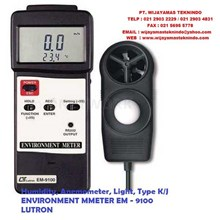 ENVIRONMENT METER  Humidity Anemometer Light EM-9100 LUTRON